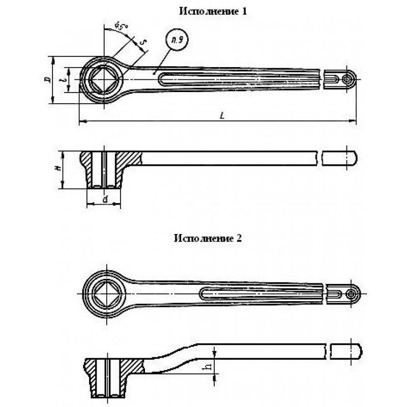 thumb Ключ 7811-0361 ГОСТ 18828