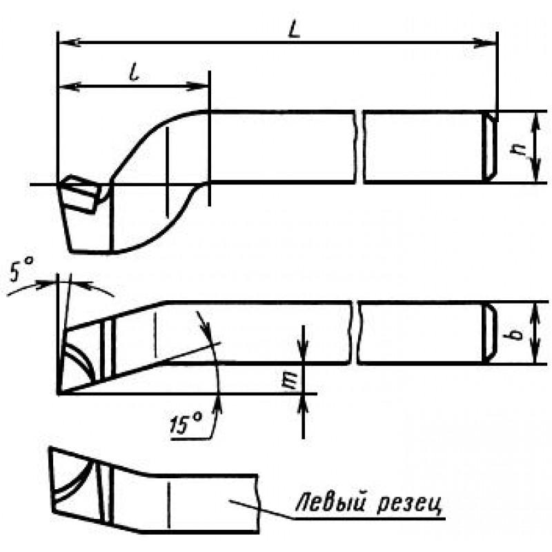 thumb Резец строгальный 2175-0030 ГОСТ 18893