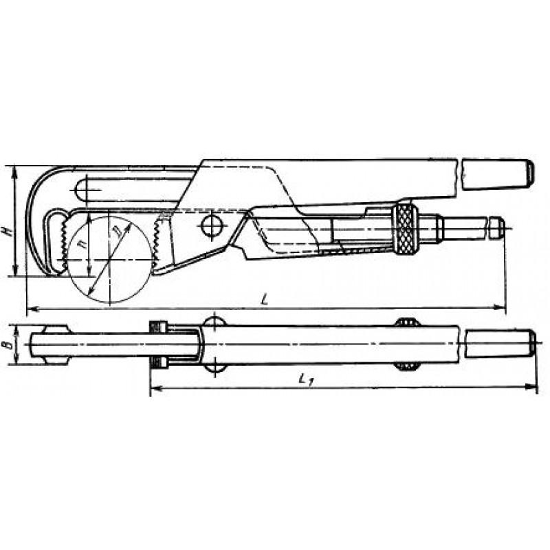 thumb Ключ трубный рычажный КТР-2 (газовый, 'шведский') 7813-0002 ГОСТ 18981