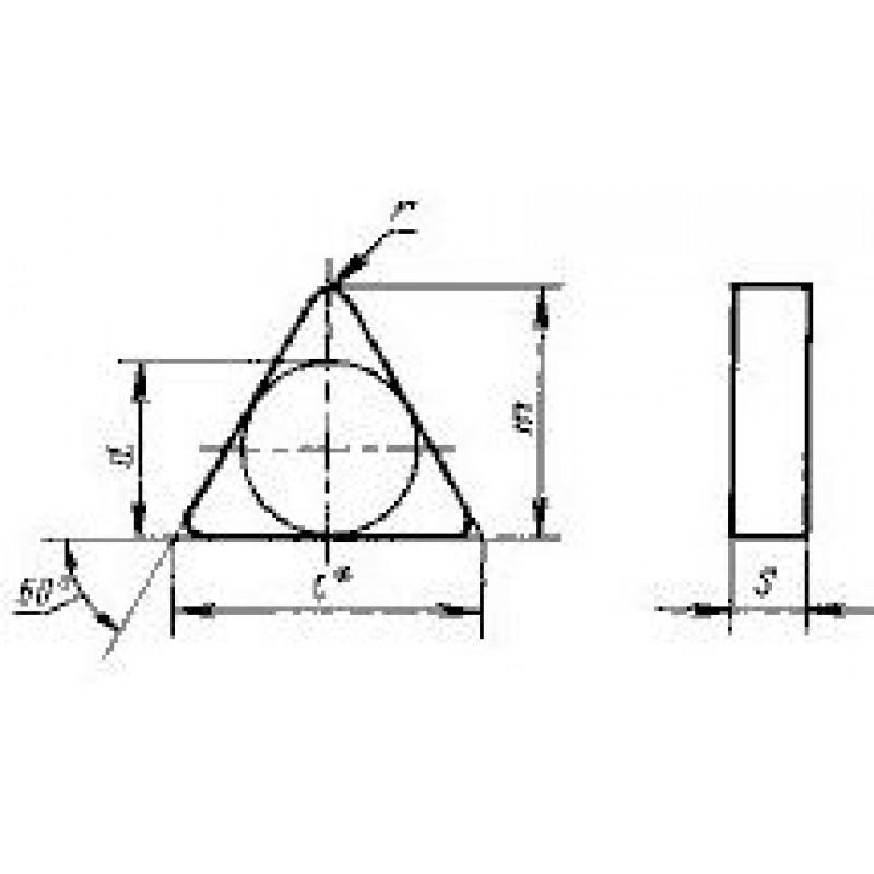 thumb Пластина треугольная TNGN-160416 Т14К8 ГОСТ 19043