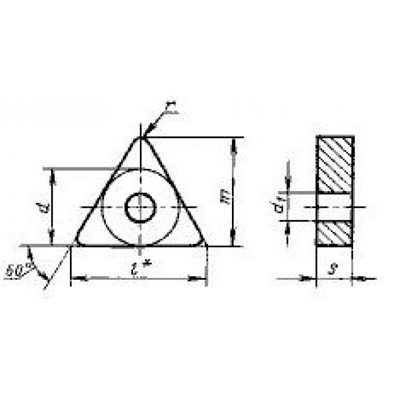 thumb Пластина треугольная TNUA-270616 Т5К10 ГОСТ 19044
