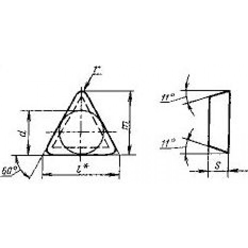 thumb Пластина треугольная TPUN-160308 ВК6 ГОСТ 19045