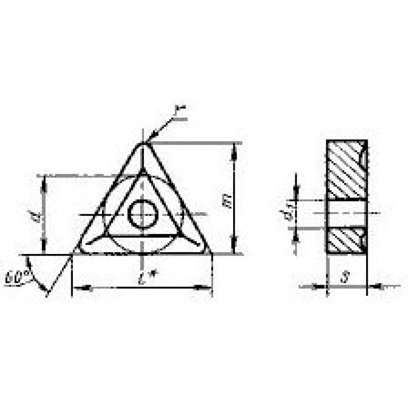 thumb Пластина треугольная TNUM-160308 ВП1255 ГОСТ 19046