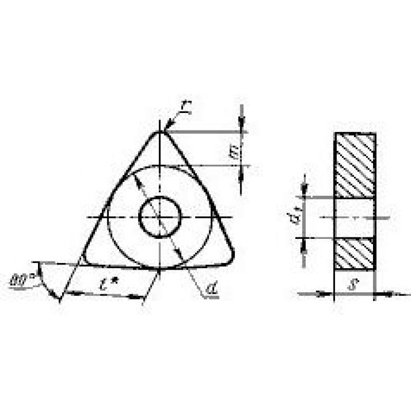thumb Пластина шестигранная WNUA-080404 ВК6 ГОСТ 19047