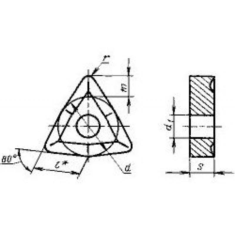 thumb Пластина шестигранная WNUM-060304 ВК8 ГОСТ 19048
