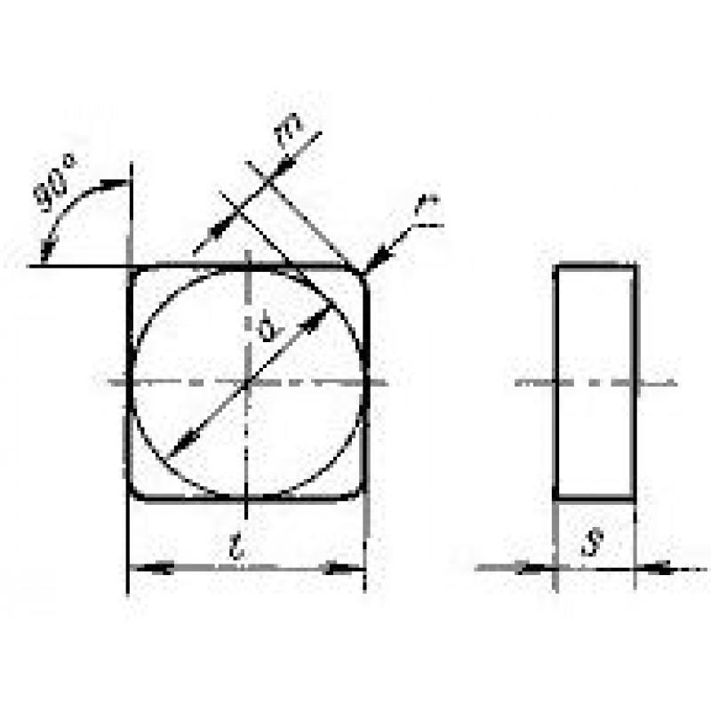 thumb Пластина квадратная SNUN-150424 ТН20 ГОСТ 19049