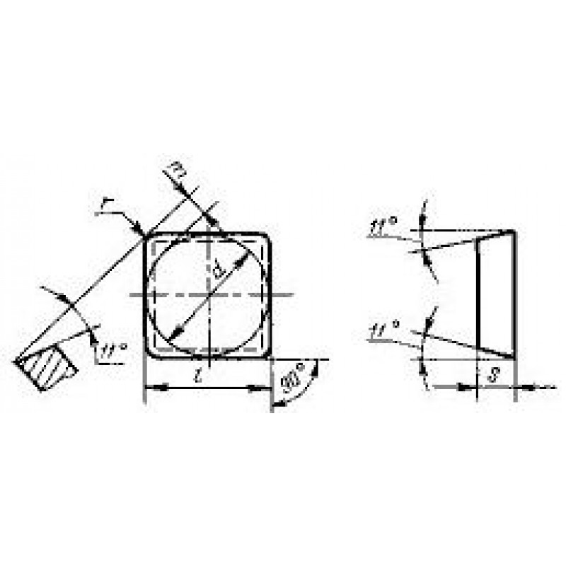 thumb Пластина квадратная SPGN-120304 КНТ16 ГОСТ 19050