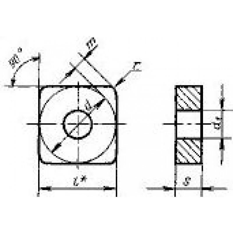 thumb Пластина квадратная SNGA-140416 ВК6 ГОСТ 19051