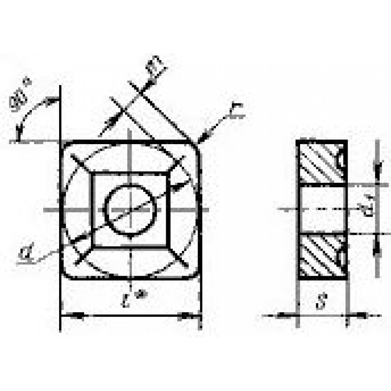 thumb Пластина квадратная SNMM-090304 ВК8 ГОСТ 19052