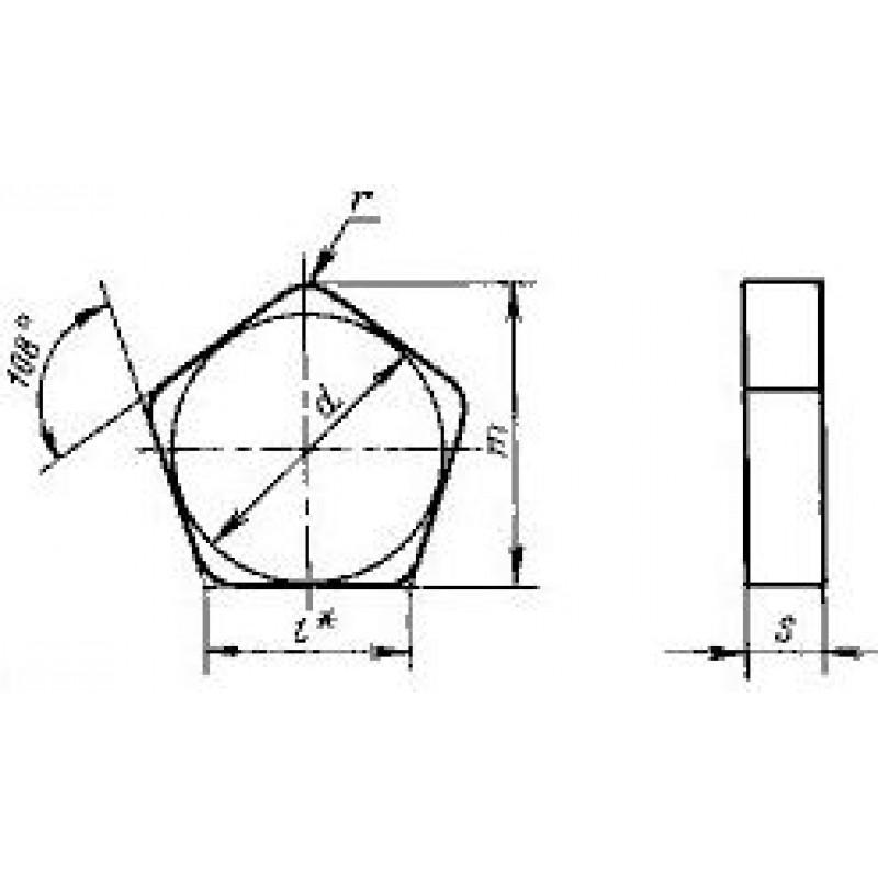 thumb Пластина пятигранная PNGN-130412 ВП1255 ГОСТ 19063