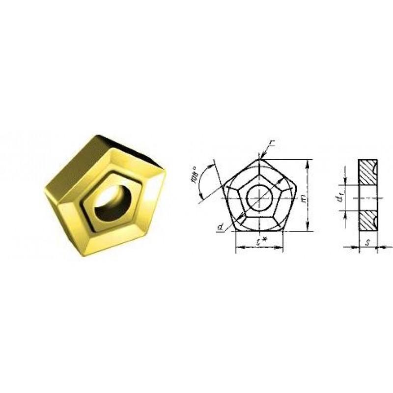 thumb Пластина режущая твердосплавная пятигранная PNUM-110408 ВК8 ГОСТ 19065