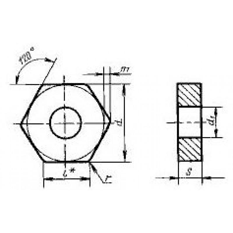 thumb Пластина шестигранная HNGA-110620 ВК6 ГОСТ 19067