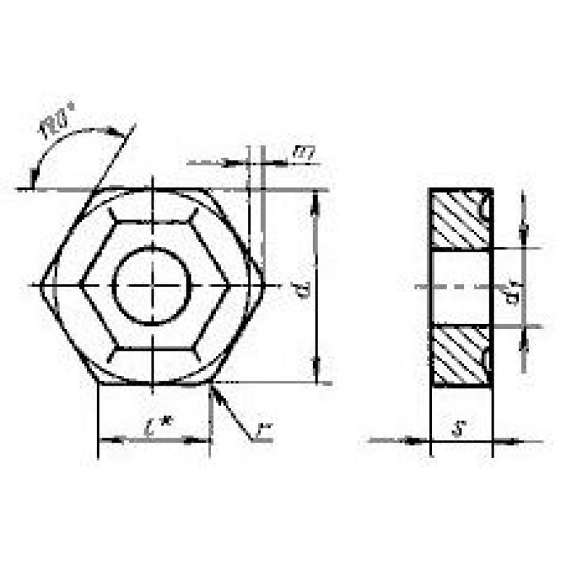 thumb Пластина шестигранная HNUM-110620 Т15К6 ГОСТ 19068