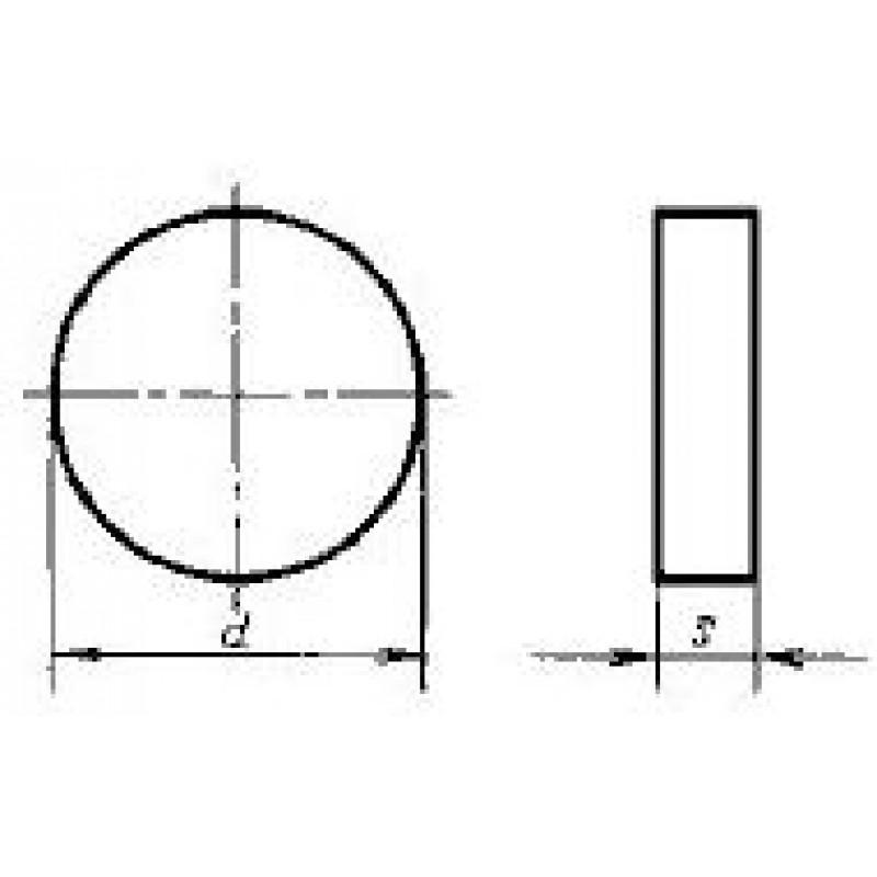 thumb Пластина круглая RNGN-120300 Т14К8 ГОСТ 19069
