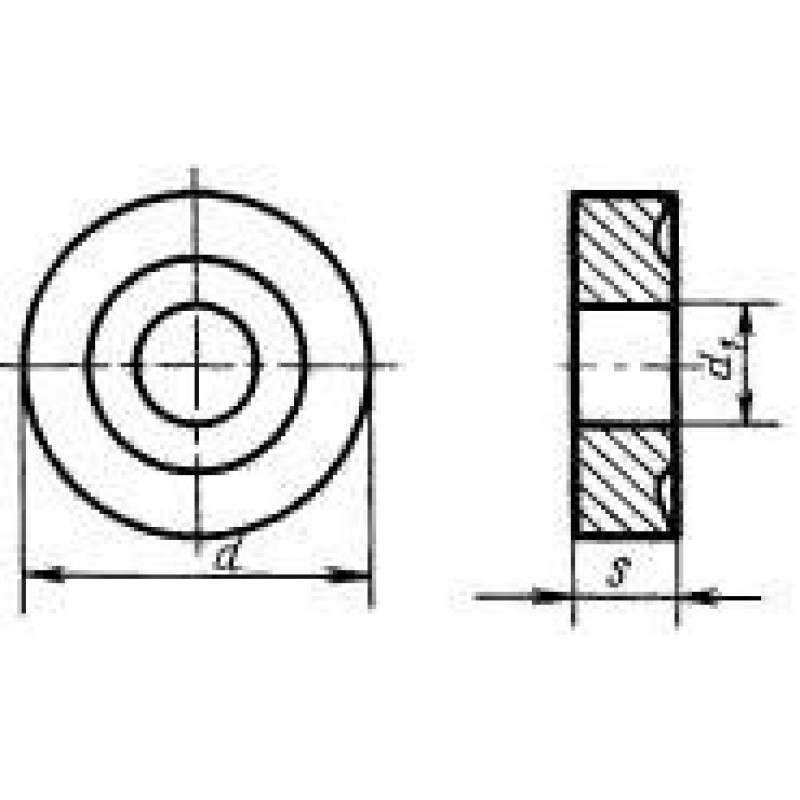 thumb Пластина круглая RNMM-220600 Т15К6 ГОСТ 19071