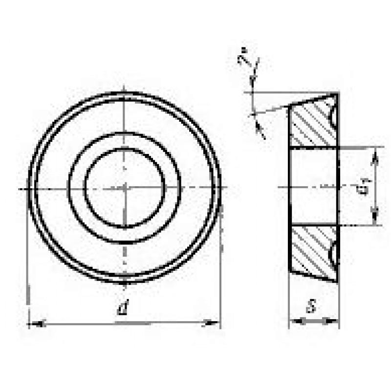 thumb Пластина круглая RCMM-190400 Т5К10 ГОСТ 19072