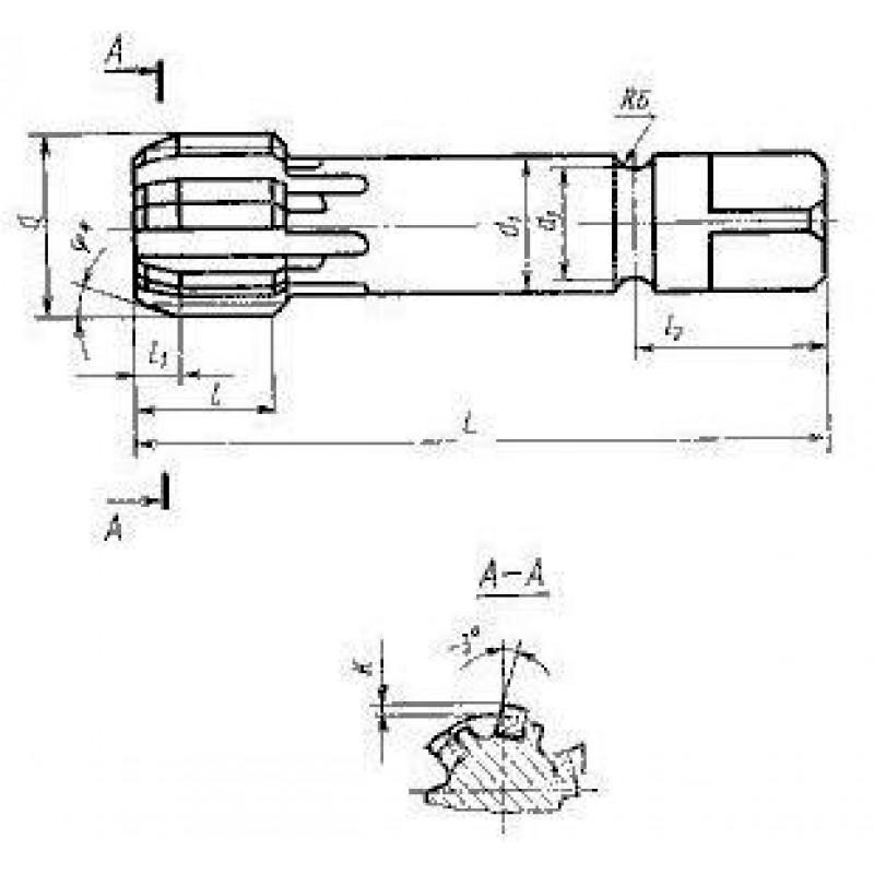 thumb Метчик трубный для резьбы G1 1/4'' 2624-0264 ГОСТ 19879