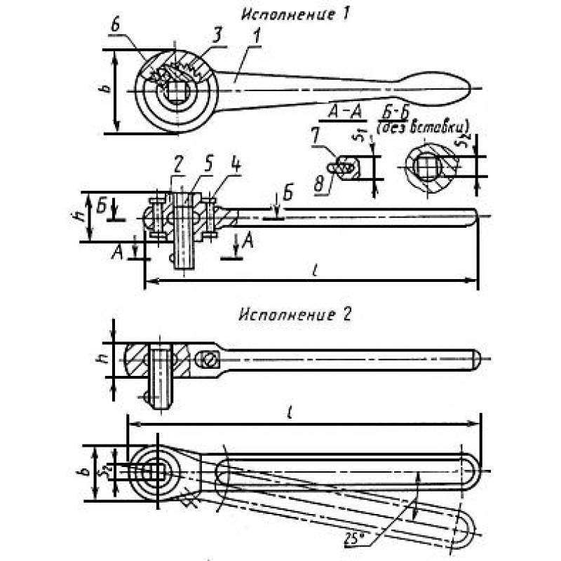 thumb Ключ трещоточный 6910-0294 ГОСТ 22402