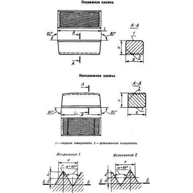 thumb Комплект плашек 1416-0126 ГОСТ 2248 для нарезки резьбы М5,5х0,5