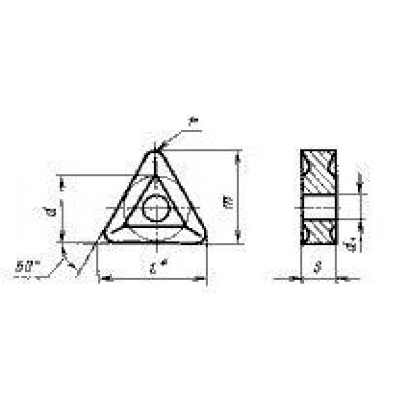 thumb Пластина треугольная TNMG-160404 ВП3325 ГОСТ 24247