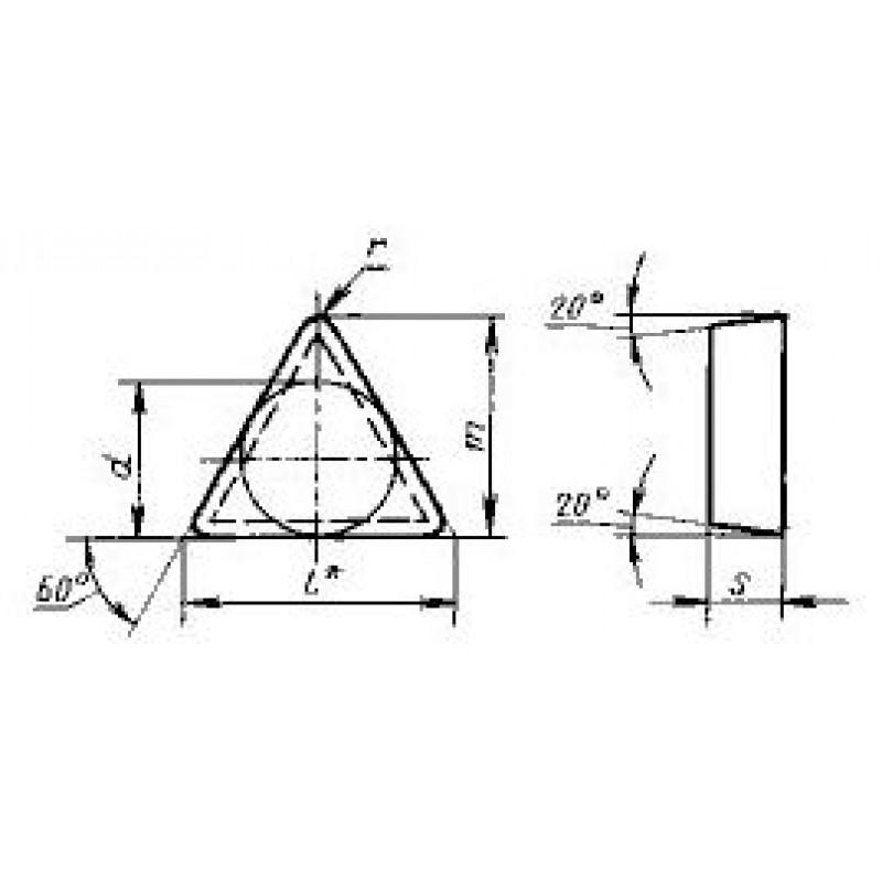 thumb Пластина треугольная TEGN-110308 ВК6-ОМ ГОСТ 24251