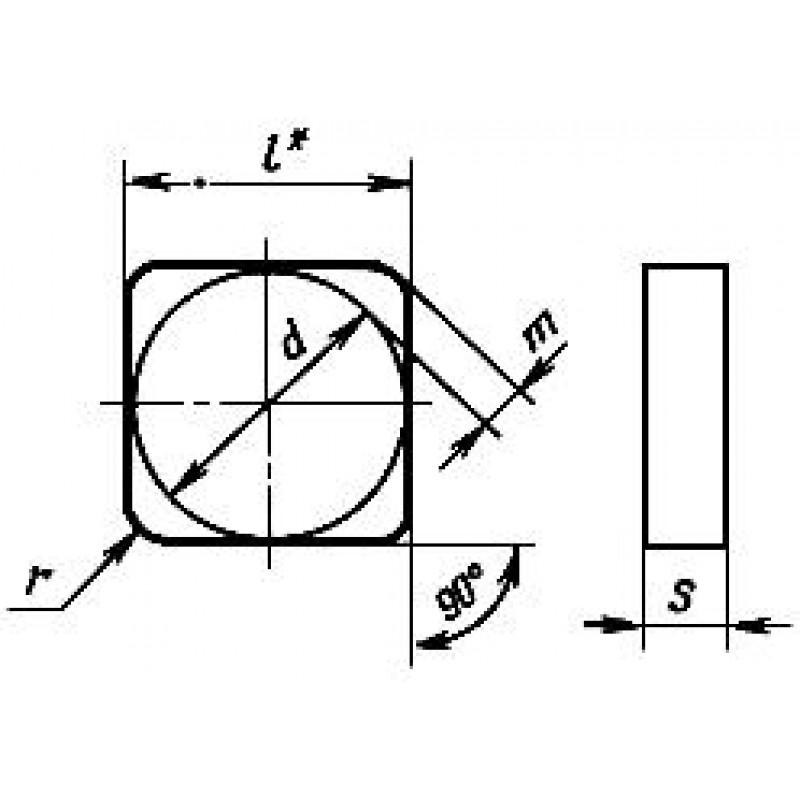 thumb Пластина SNGN-120416 В-3 ГОСТ 25003