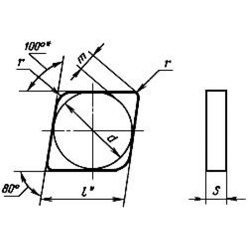 thumb Пластина CNGN-120816 ВОК-60 ГОСТ 25003