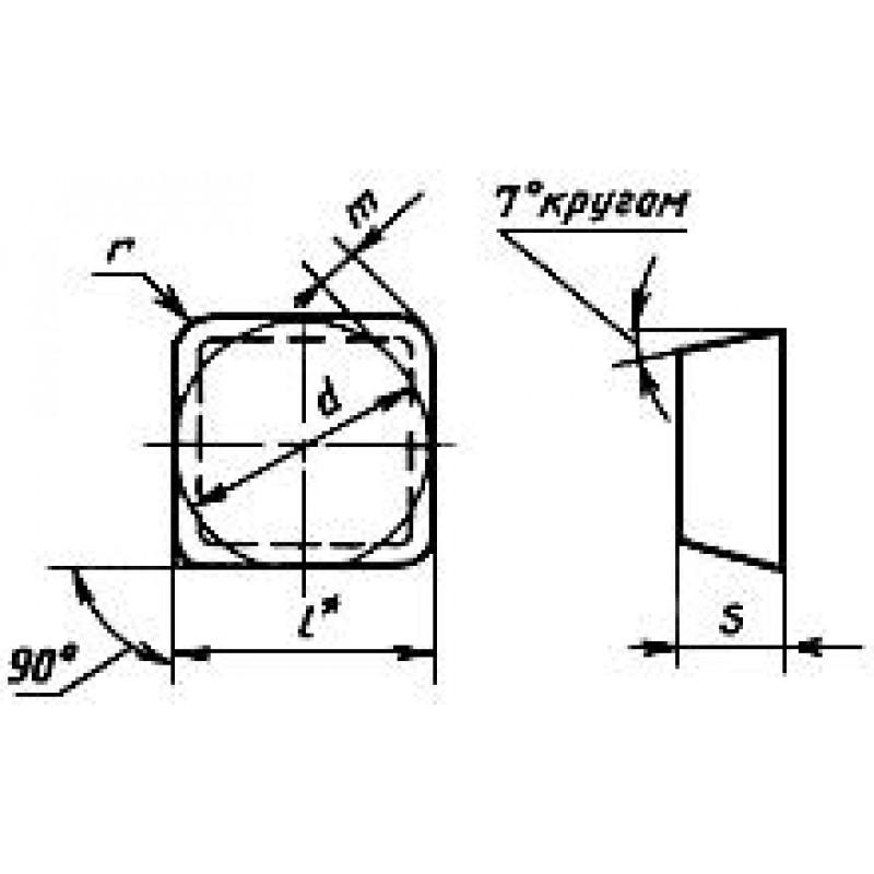 thumb Пластина SCGN-150816 В-3 ГОСТ 25003