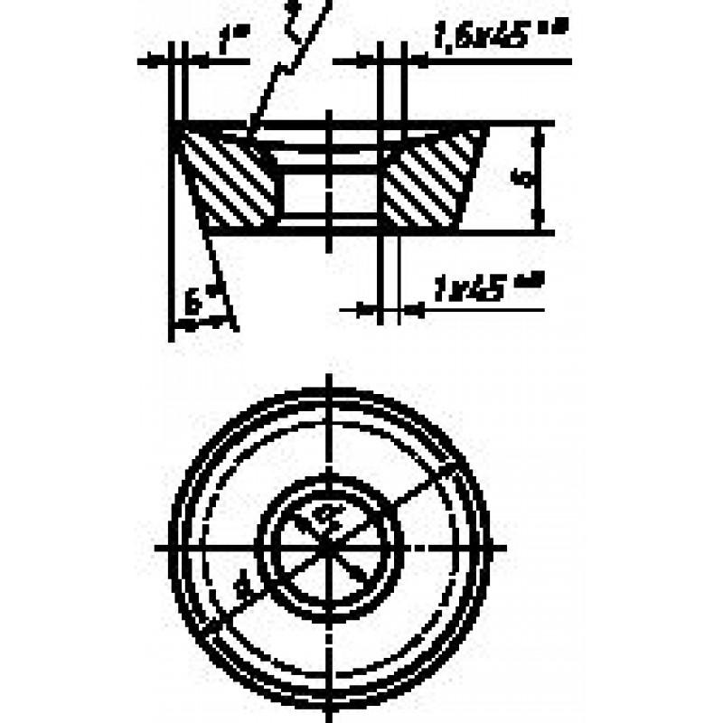 thumb Пластина круглая галтельная 12090 ВП3115 ГОСТ 25403