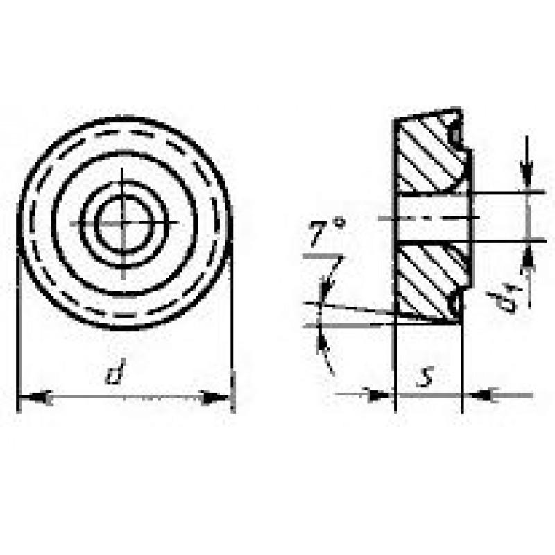 thumb Пластина круглая RCMT-2006M0 ВК6 ГОСТ 27301