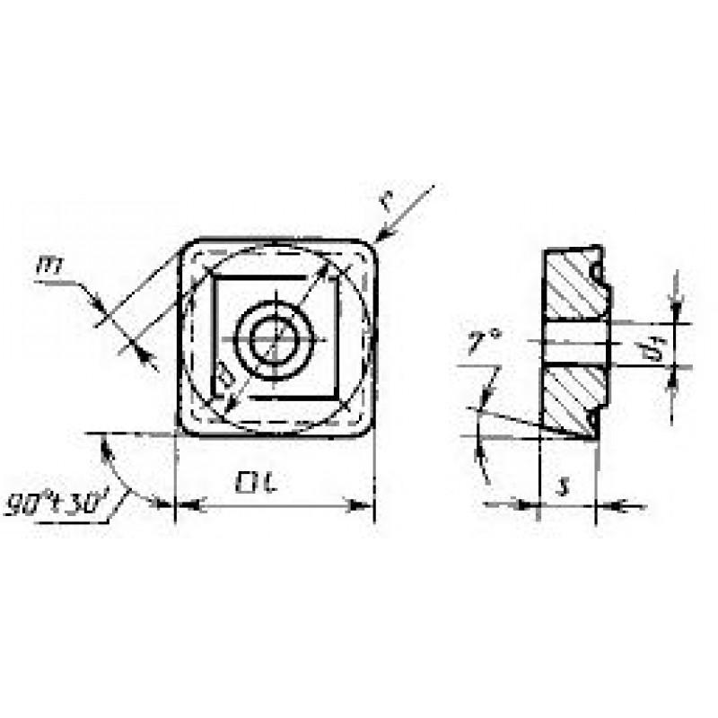 thumb Пластина квадратная SCMT-150516 ВП3115 ГОСТ 27301