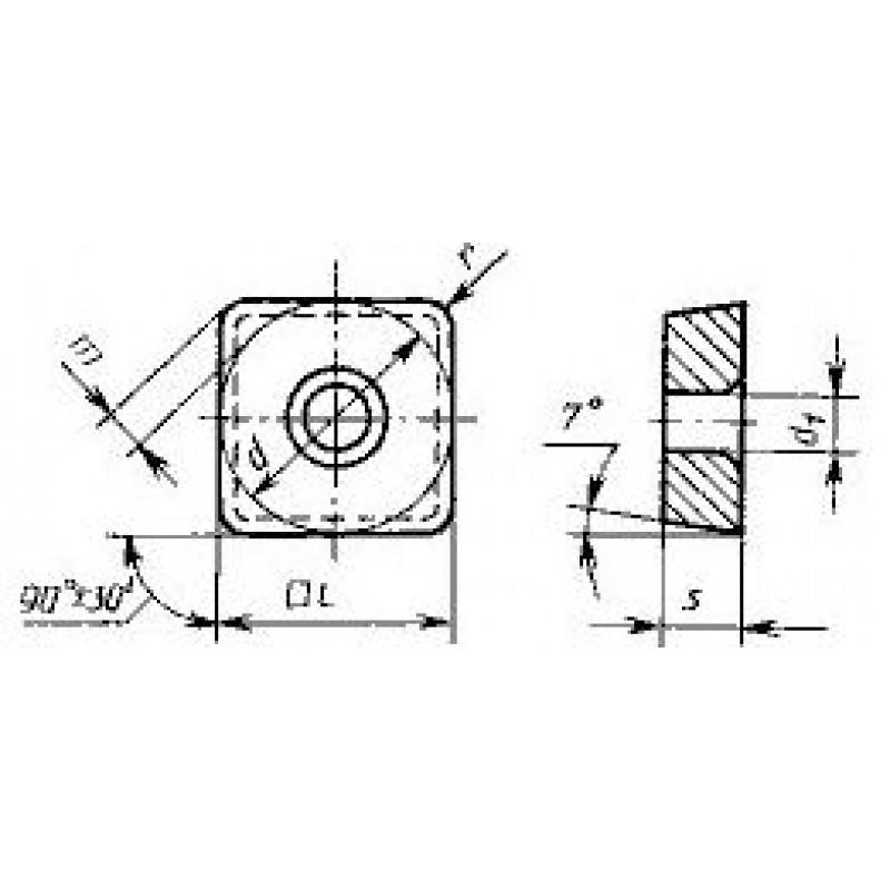 thumb Пластина квадратная SCMW-120404 ВК6 ГОСТ 27301