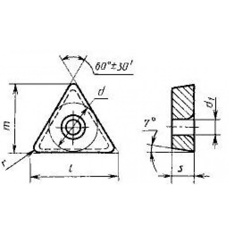 thumb Пластина трёхгранная TCMW-16T312 ВК10-ОМ ГОСТ 27301