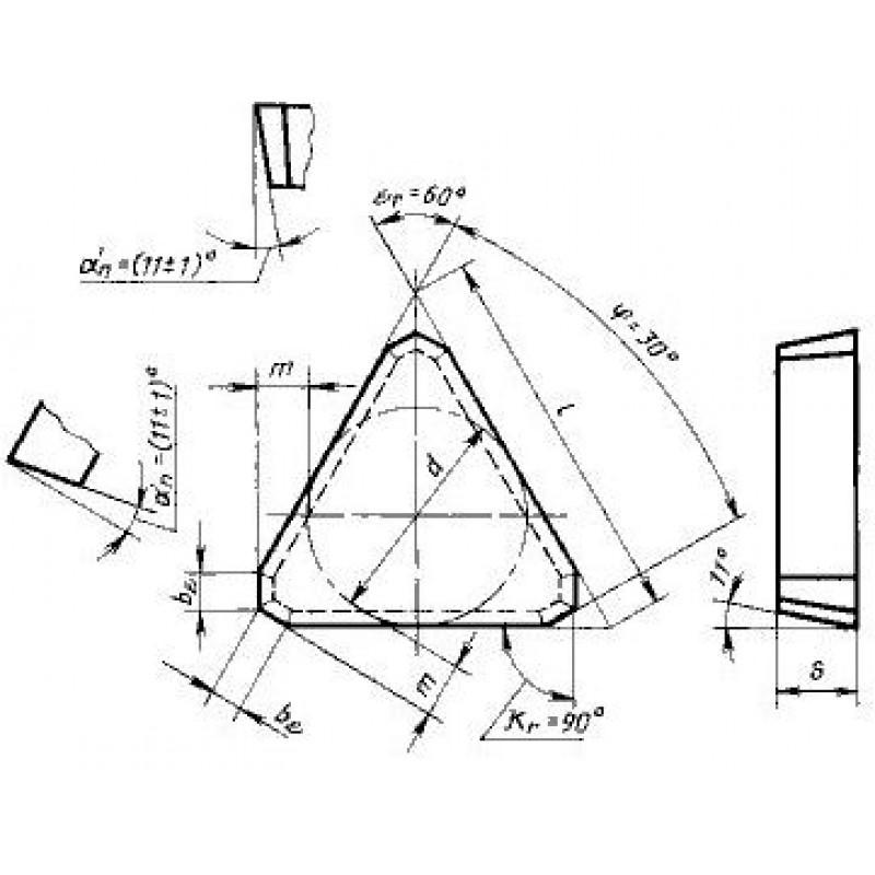 thumb Пластина треугольная TPCN-1603PPN ВК6 ГОСТ 27302