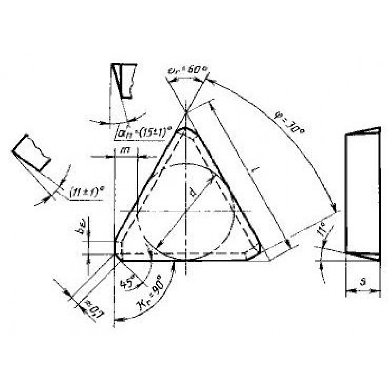 thumb Пластина треугольная TPKN-2204PDL Т5К10 ГОСТ 27302
