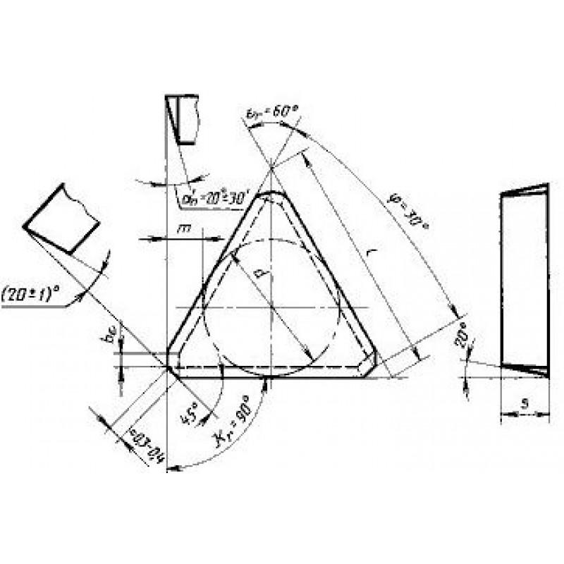 thumb Пластина треугольная TECN-1603PER ТТ7К12 ГОСТ 27302