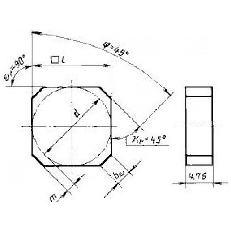 thumb Пластина квадратная SNCN-1904ANN ВК6-ОМ ГОСТ 27302