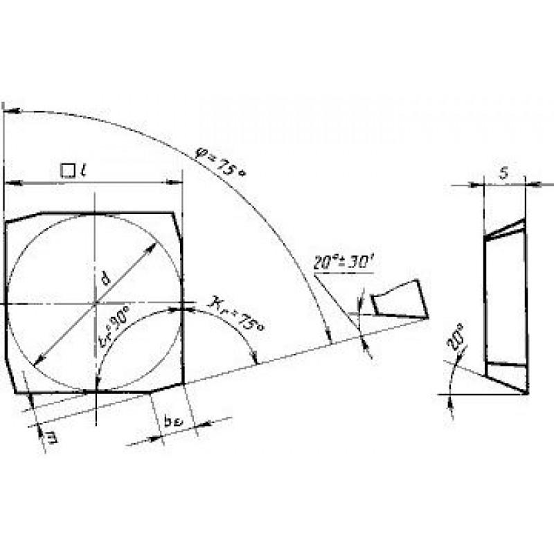 thumb Пластина квадратная SECN-1203EER ТТ20К9 ГОСТ 27302