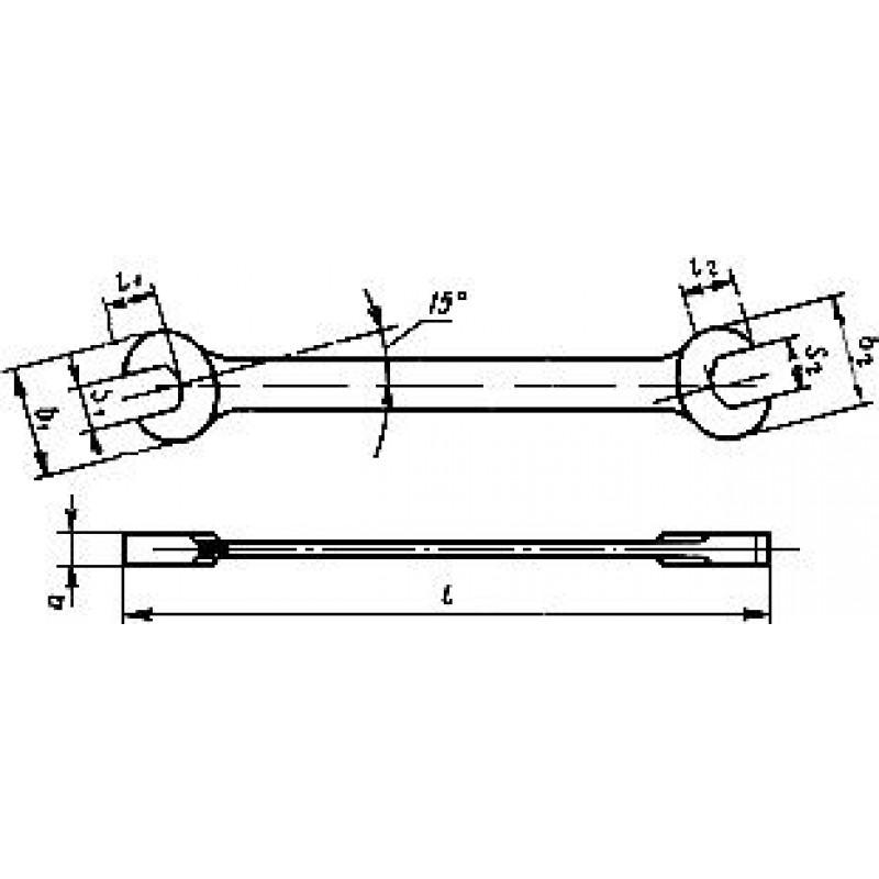 thumb Ключ 7811-0001 П D 2 Х9 ГОСТ 2839