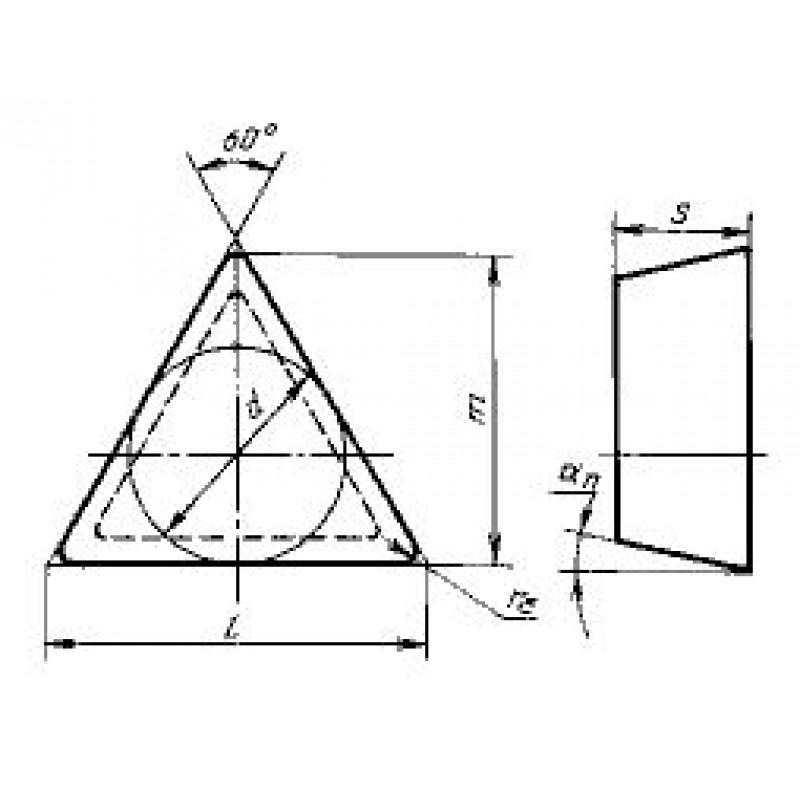 thumb Пластина трёхгранная TCMN-16T308 T-1 10Д ГОСТ 28762