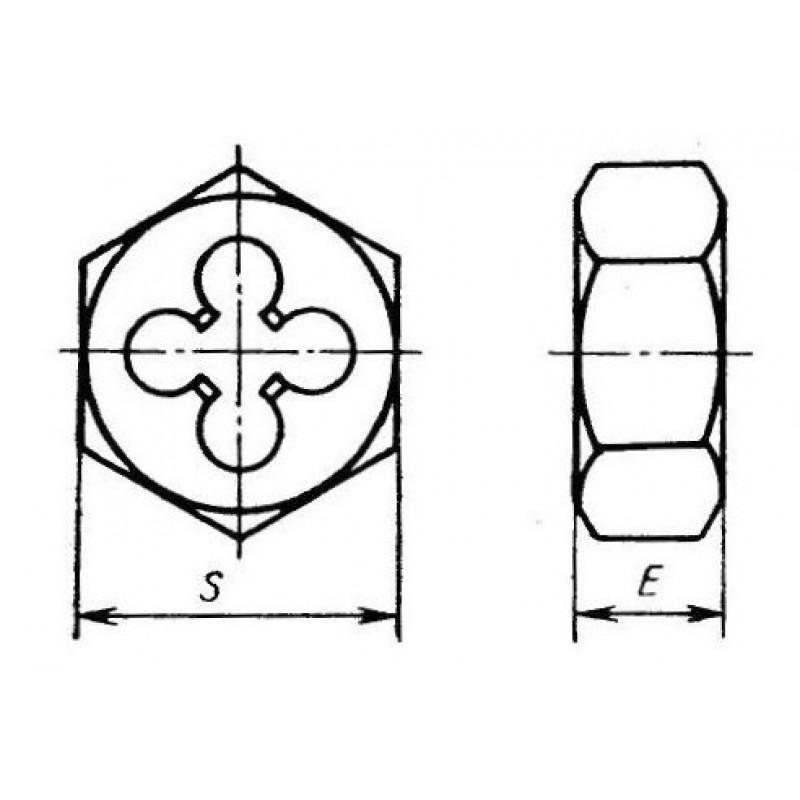 thumb Плашка шестигранная правая М30х3 ГОСТ 50561