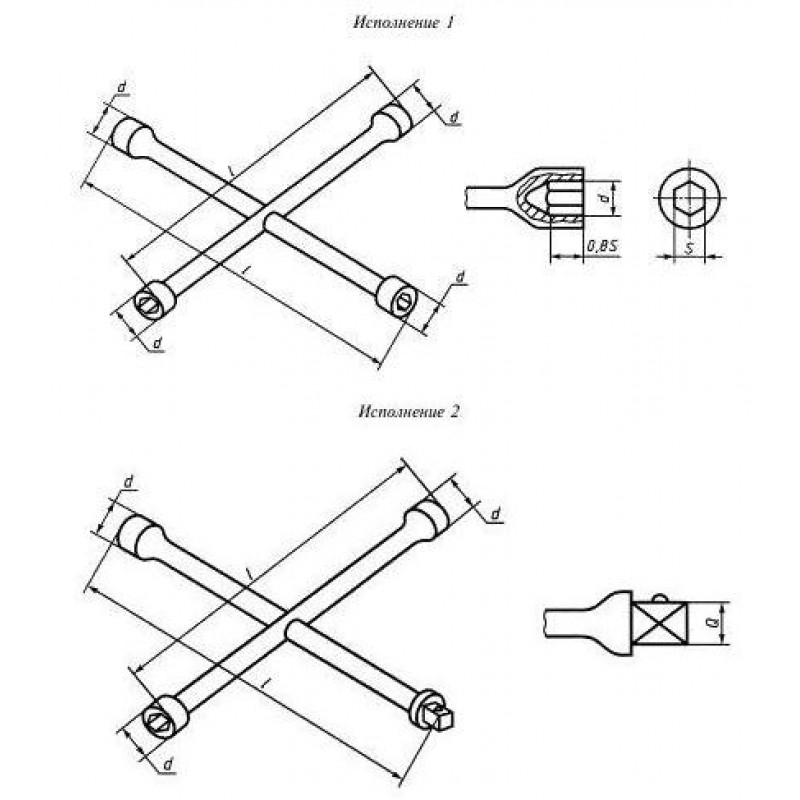 thumb Ключ гаечный торцовый четырёхсторонний 7812-0602 ГОСТ Р 51981