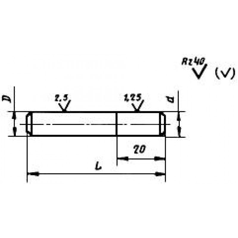 thumb Алмазный карандаш 3908-0058 ГОСТ 607
