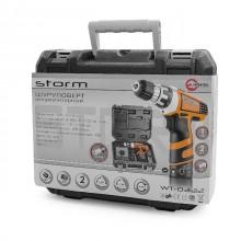 Шуруповерт STORM Li-Ion, 12 В, 2 скорости, 0-400-1200 об/мин, 2 аккумулятора, 1 час зарядки, 14.0 Нм_21