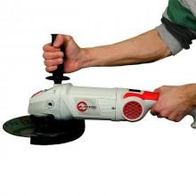 Шлифмашина угловая 2000 Вт, 6500 об/мин, диаметр круга 230 мм, плавный пуск, поворотная рукоятка INT_13