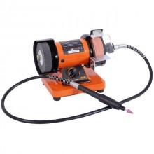 Станок точильный настольный STORM 150 Вт, 0-10000 об/мин, шлифкруг 75 мм, полир. круг 75 мм, гибкий