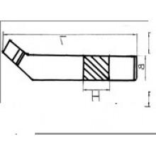 Резец токарный проходной отогнутый 25х16х140 Т15К6 ГОСТ 18887 Украина