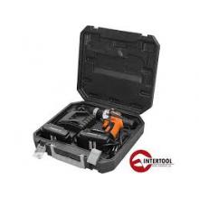 Шуруповерт STORM, 18В, 2 скорости, 0-400/0-1150об/мин, 2 аккумулятора, 1 час. зарядка INTERTOOL WT-0